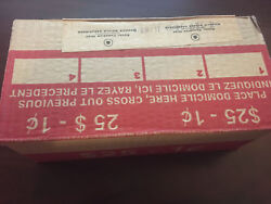 2 Boxes 2012 Canada Canadian Total Of 100 Rolls Of Magnetic 1 Cent / Penny Coins