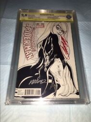 Amazing Spider-man 4 1st Silk Variant 9.8 Ss Signed J.scott Campbell And Ramos