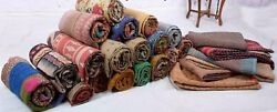 Indian Vintage Quilt Sari Quilt Hippie Cotton Quilt Reversible Cotton Quilt