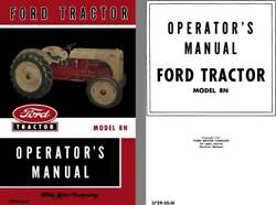 Ford 1950 - Ford Tractor Model 8n Operators Manual 3729-50-m