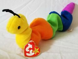 Rare Ty Beanie Baby Inch The Worm Waterlooville Tags P.v.c Pellets, No Stamp