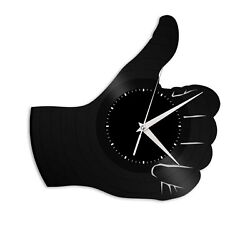 Like Thumb Vinyl Wall Clock Record Unique Gift for Friends Home Room Decoration