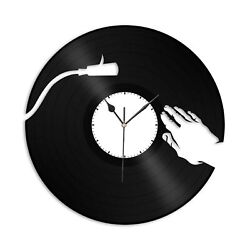 Scratch Vinyl Wall Clock Record Unique Gift for Friends Home and Room Decoration