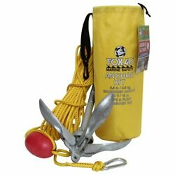 Fox 40 | Boat Anchor Kit | 2.5 Kg Anchor 5.5 Pound | 50 Ft 15 M Woven