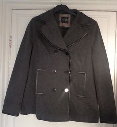 Principles By Ben De Lisi Size 14 Grey Double Breasted Jacket Andpound85