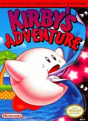 Retro Kirby's Adventure Game Poster//nes Game Poster//video Game Poster//vintage