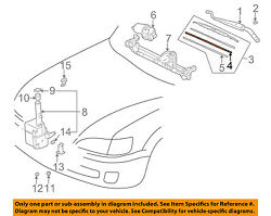 TOYOTA OEM Wiper-WINDSHIELD-Blade Assembly Refill Left 8521448031