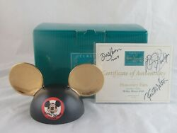 Wdcc Honorary Ears From Disney's Mickey Mouse Club In Box Coa Triple Signed