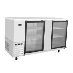 Atosa Mbb69g Two-section Back Bar Cooler With Glass Doors