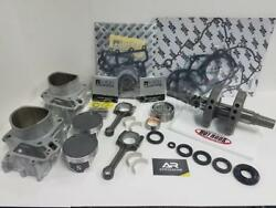 05-11 Brute Force 750 Top And Bottom Rebuild Cylinders Pistons Crank Shaft Gaskets