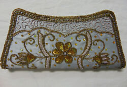 Women sequence Evening Silver Clutch Bag Party Prom Wedding Purse $30.00