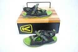Keen Rock Iguana BlackJasmine Green 1014416 Pre-School Size 3 KidsYouth Sandal