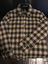 Rrl Double Rl Polo - Checked Wool / Cashmere Blend Shirt - Size S