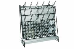 Wall Mountable And Self Standing Sturdy Glassware Drying Rack - Holds 90 Lab Tools