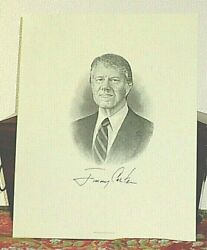 Pristine Presidential Jimmy Carter Signed His Personal Presidential Engraving