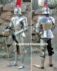 Medieval Armor Gothic Suit Of Full German Body Armour For Halloween Play Item