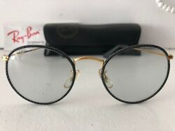 Exc Vtgw0778round Leathers Grey Changeables Ray-ban Bandl Usa Sunglasses Andcase