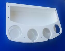 Starboard Four Cup Drink Holder With Extra Large Storage Box 1/2 Starboard