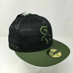 Nwt Chicago White Sox Memorial Day Fitted Hat 7 3/8 Military Camo Mlb Baseball