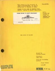 Wings Of Eagles The 1955/56 Two Vint Original Variant Scripts For Ford Film