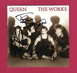 Brian May, Roger Taylor And John Deacon Autographs Queen Hand Signed Cd