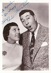 Louis Prima / Keely Smith Autograph Original Hand Signed Photo