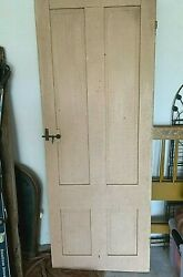 Antique Barn Cottage Farmhouse Early-mid 1800s 4 Panel Door