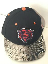Chicago Bears Nfl Football Team Reptile Skin Mitchell And Ness Snapback Cap Hat