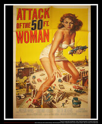 ATTACK OF THE FIFTY FEET WOMAN 27x40 US One SheetMovie Poster Original 1958