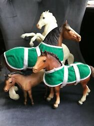 Breyer Horses, Vintage, Mixed Lot- White And Brown, Blanket