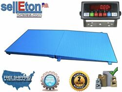 Floor Scale Smart Ready With Ramp 72andrdquo X 48andrdquo 6andrsquo X 4andrsquo 10000 Lbs X 1 Lb