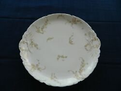 Haviland Limoge China Norma Yellow And Pink Flowers 11 3/4 Round Platter  7-4