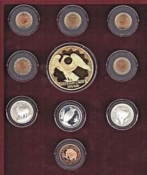 1993 Russia Wildlife Collectors Series 1 5 10 100 Roubles Gold Silver Coin Set