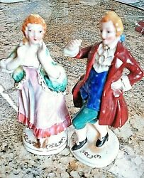 Vintage Victorian Victorian Porcelain Figurines Made In Occupied Japan
