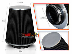 2.75 Cold Air Intake High Flow Racing Truck Filter Universal Black For Audi