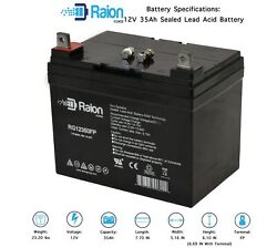 Raion Power 12v 35ah Lawn Mower Battery For J.i. Case And Case Ih Lawn 444