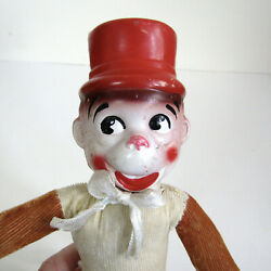 Vintage 50s Monkey Stuffed Animal Rubber Face Antique Carnival Circus Prize Toy