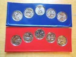 2019 America The Beautiful P And D Uncirculated Set Sealed Mint Cello 10 Coin Lot