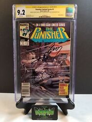 Punisher Limited Series 1 Cgc Ss 9.2 4x Signed Stan Lee Zeck Gerry Conway Potts