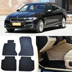 Full Set All Weather Heavy Duty Black Rubber Floor Mats For Bmw 5 Series 2014-16