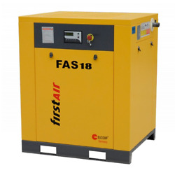 First Air FAS18 25-HP Tankless Rotary Screw Air Compressor (230V 3-Phase 150PSI)