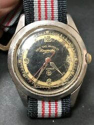 Vintage Military West End Watch Co Prima Mechanical Movement Ss Watches R7