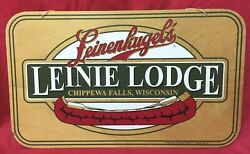 Leinenkugel's Leinie Lodge Chippewa Falls, Wisconsin 1998 Wooden Sign With Canoe