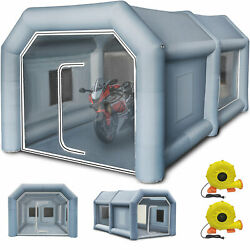 13x8x7Ft Inflatable Spray Paint Booth Tent Car Workstation+ Filtration System