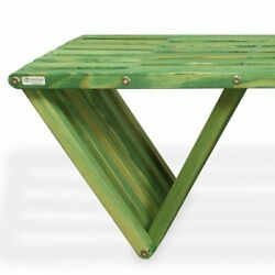 GloDea Xquare Pine X70 Backless Garden Bench