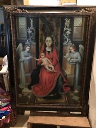 Oil Painting-religious-virgin Mary-baby Jesus-angels