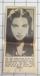 1953 Yvonne Furneaux 22 First Star Role In A E W Masons The House Of Arrow
