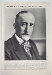 1932 The Earl Of Willingdon Portrait Viceroy And Govenor General Of India Print