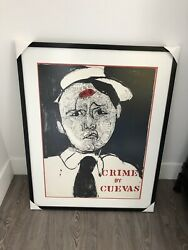 Jose Luis Cuevas Signed And Litho Crime Series 37x29 Perfect Frame