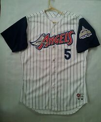 Rare 1998 Rawlings Team Issue Anaheim Angels 5 Craig Shipley Jersey In Size 48